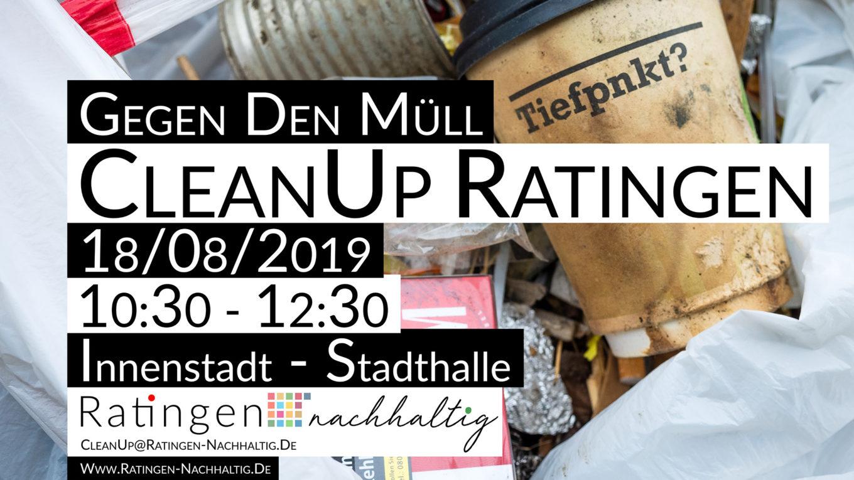 Ratingen.nachhaltig organisiert den zweiten CleanUp Ratingen in der Innenstadt
