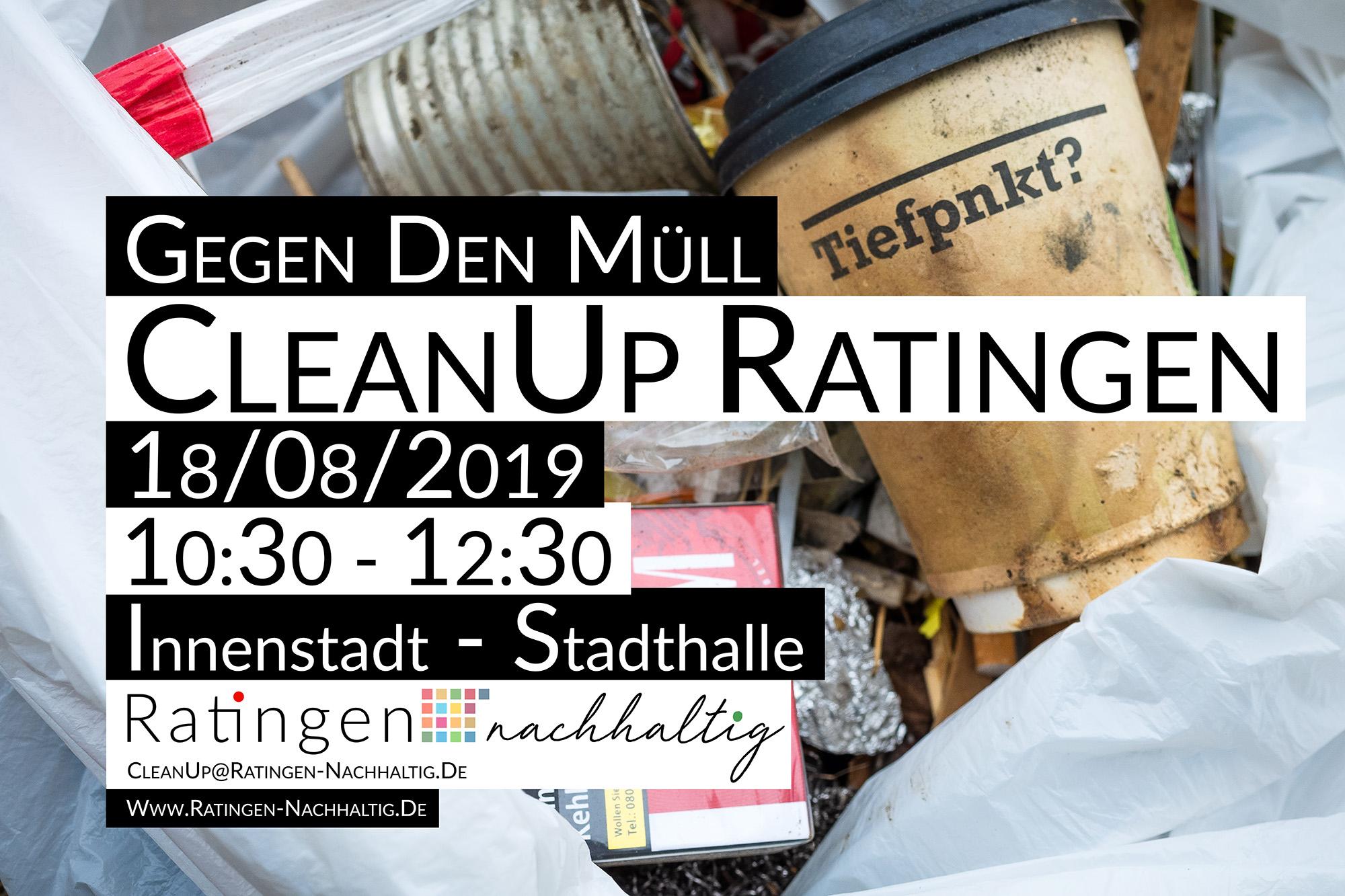 2. CleanUp Ratingen in der Innenstadt