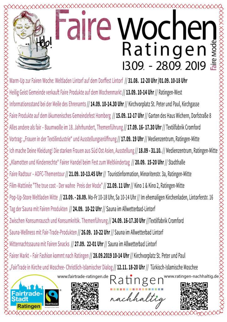 Programmübersicht der Fairen Woche 2019 in Ratingen von Ratingen.nachhaltig