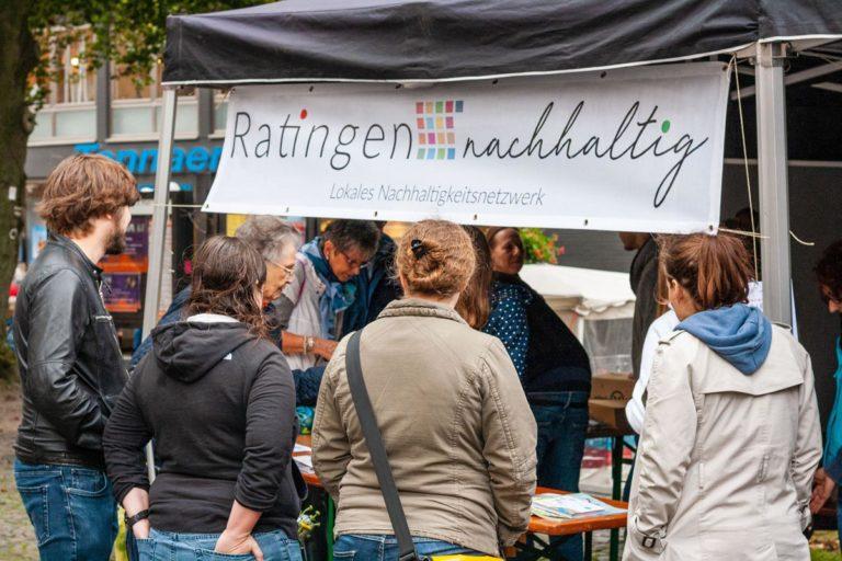 Ratingen.nachhaltig veranstaltete am 28.09.2019 den Fairen Markt 2019 auf dem Kirchplatz von St. Peter und Paul