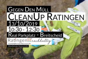 CleanUp Ratingen im Oktober in Breitscheid