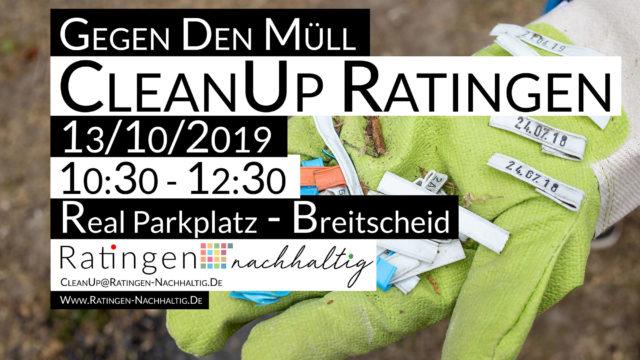 Ratingen.nachhaltig organisiert den nächsten CleanUp am 13. Oktober 2019 in Breitscheid