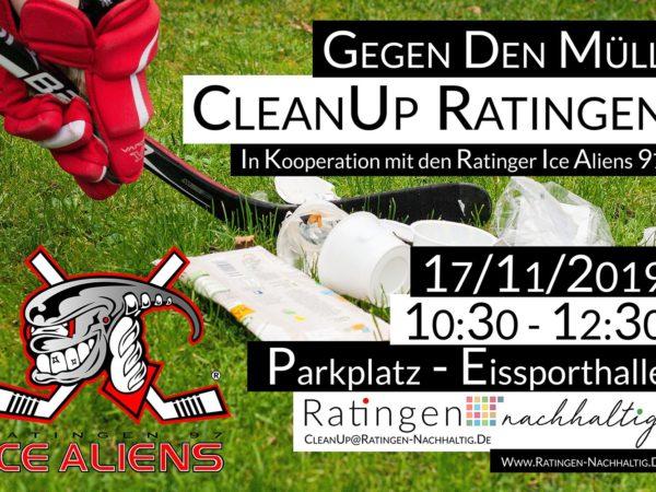 Der 5. CleanUp Ratingen, organisiert von Ratingen.nachhaltig, in Kooperation mit den Ice Aliens Ratingen 97