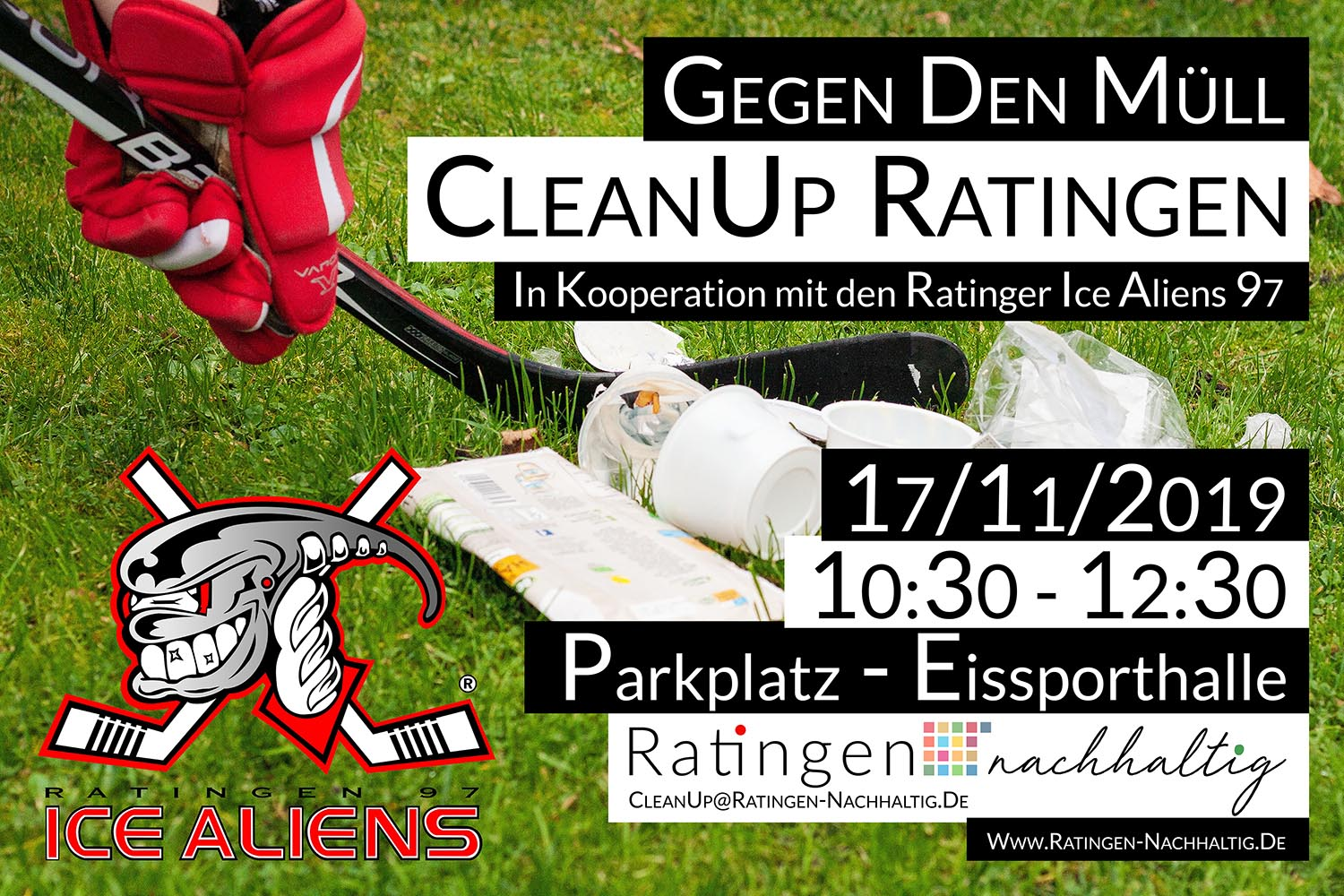 CleanUp Ratingen an der Eissporthalle