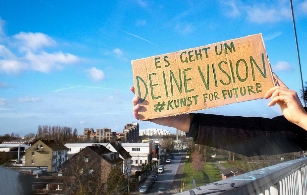 Deine Vision beim Wettbewerb #kunstforfuture