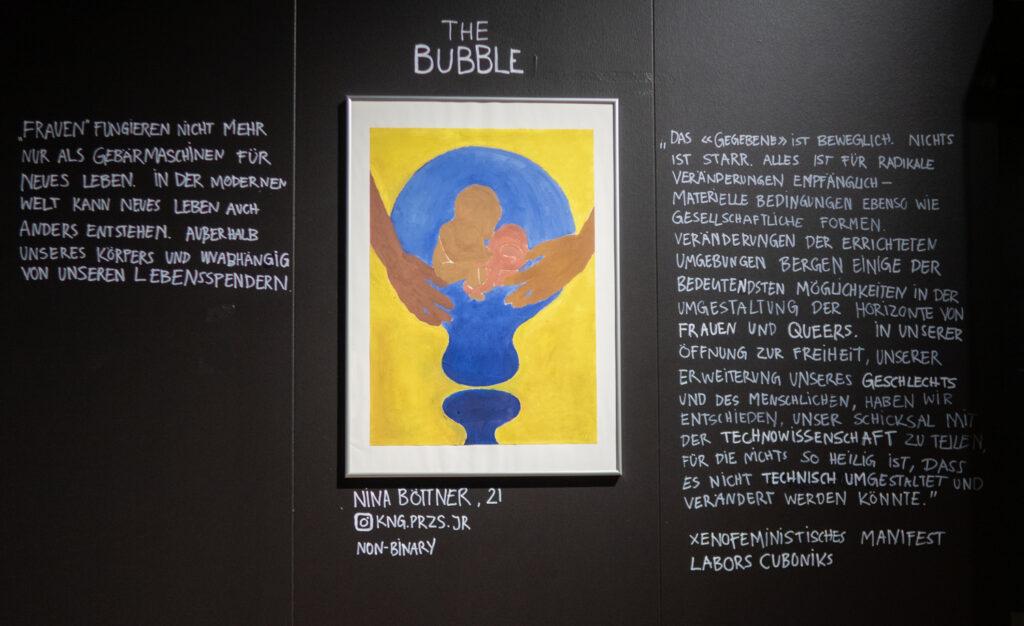 Das Werk von Nina Bröttner im Rahmen des Zukunftskunst-Wettbewerbs #kunstforfuture 2020. Das Werk ist bis zum 25. Oktober 2020 im LVR-Industriemuseum Haus Cromford in Ratingen zu sehen. Der Wettbewerb findet im Rahmen des Jugendkulturjahrs 2020 der Stadt Ratingen statt. Die Rechte liegen bei dem Autor/ der Autorin.