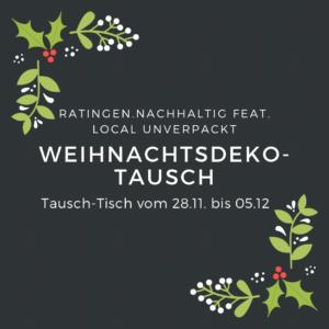 Ankündigung: Eine Woche Weihnachtsdeko-Tausch