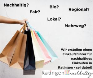 Neues Projekt: Jetzt beim Nachhaltigen Einkaufsführer Ratingen mitmachen!